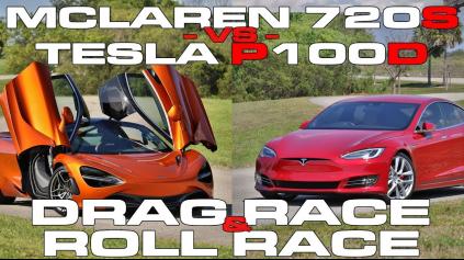 McLaren vs Tesla Model S P100D. Kto vyhrá?