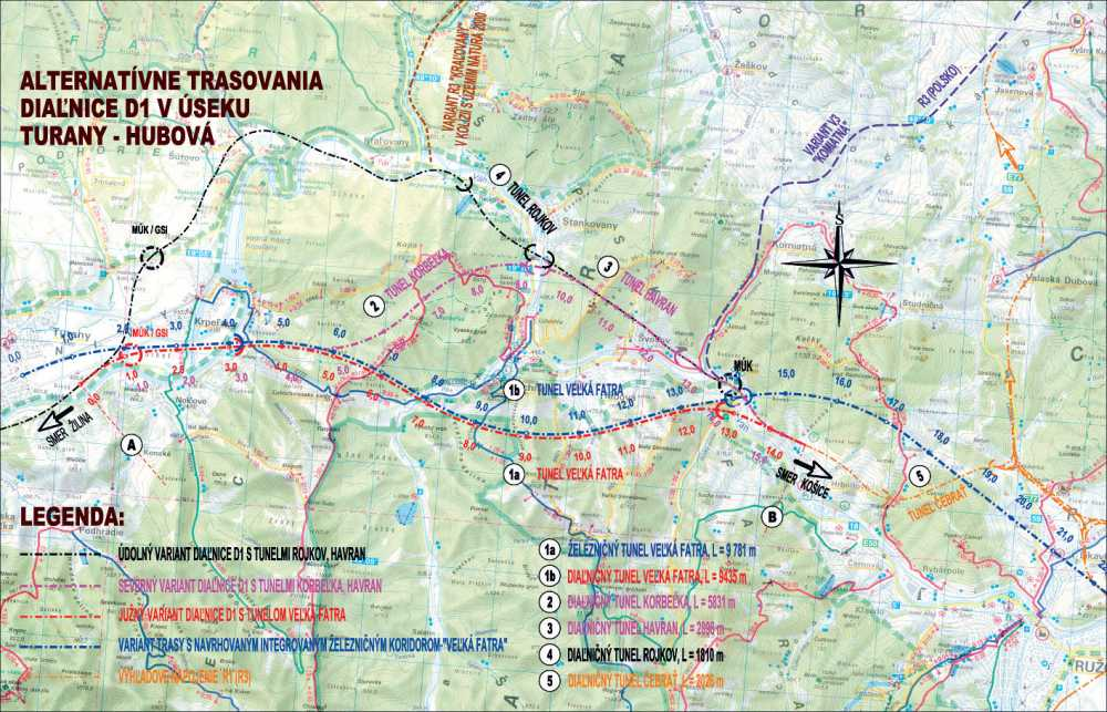 D1 Turany - Hubová