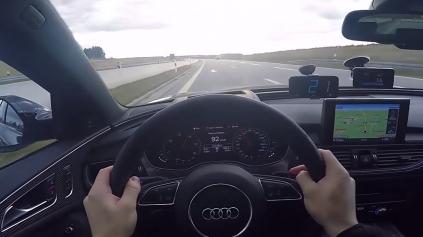 AUDI A6 BI-TURBO POĽAHKY POKORÍ 250 KM/H