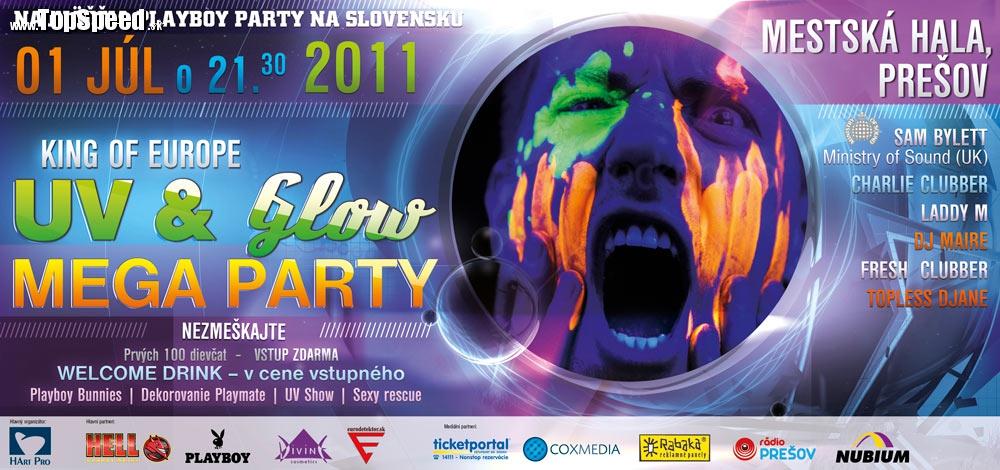 KING OF EUROPE UV & GLOW MEGA Party - Prešov, mestská hala, piatok 01.07. od 21.30 h