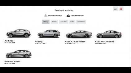 Porovnanie konfigurátorov: Audi konfigurátor