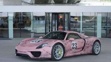 Porsche 918 Spyder ako ružové prasa. Dobrý nápad?