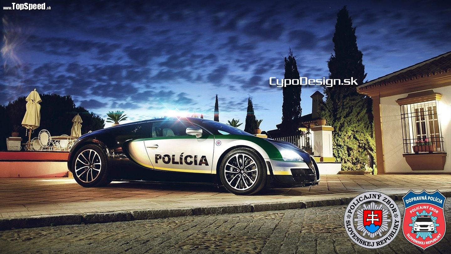 Tak to je on - Bugatti Veyron slovenskej polície